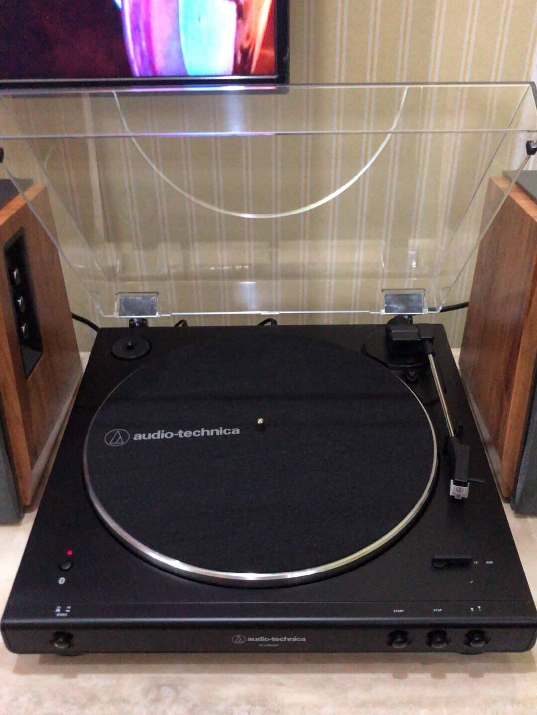铁三角AT-LP60XBK自动皮带传动唱盘黑胶唱机唱片机复古唱片机留声机