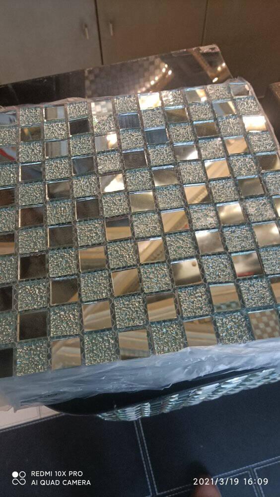 水晶马赛克瓷砖玻璃自粘吧台玄关背景墙游泳池水池鱼池卫生间绿草如茵水晶款30x30