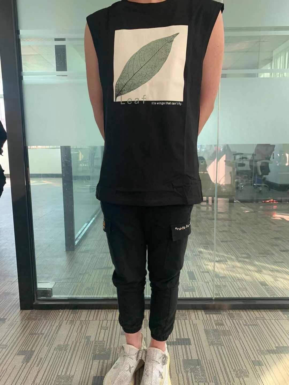 BABIBOY背心男潮棉无袖t恤坎肩夏季外穿马甲潮牌运动宽松男士健身篮球T恤背心MYY6103黑色XL