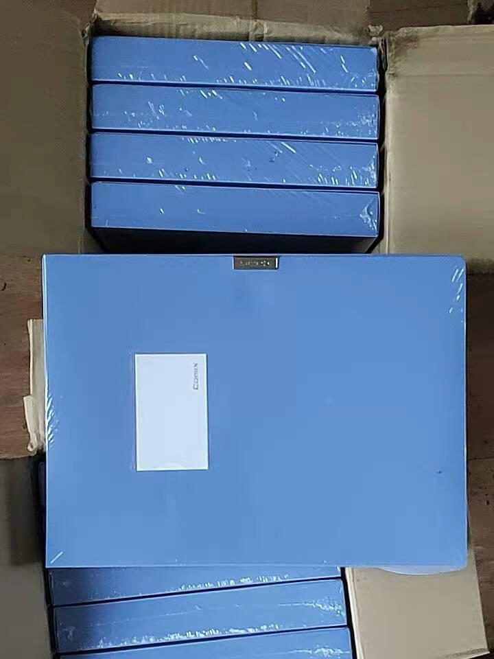 齐心(Comix)10个装35mm牢固耐用粘扣档案盒/A4文件盒/资料盒EA1001-10蓝色办公用品