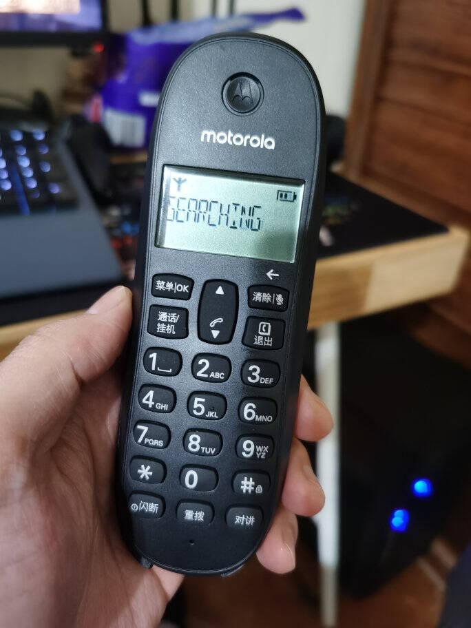 摩托罗拉(Motorola)数字无绳电话机无线座机单机办公家用来电显示三方通话C1001XC(黑色)