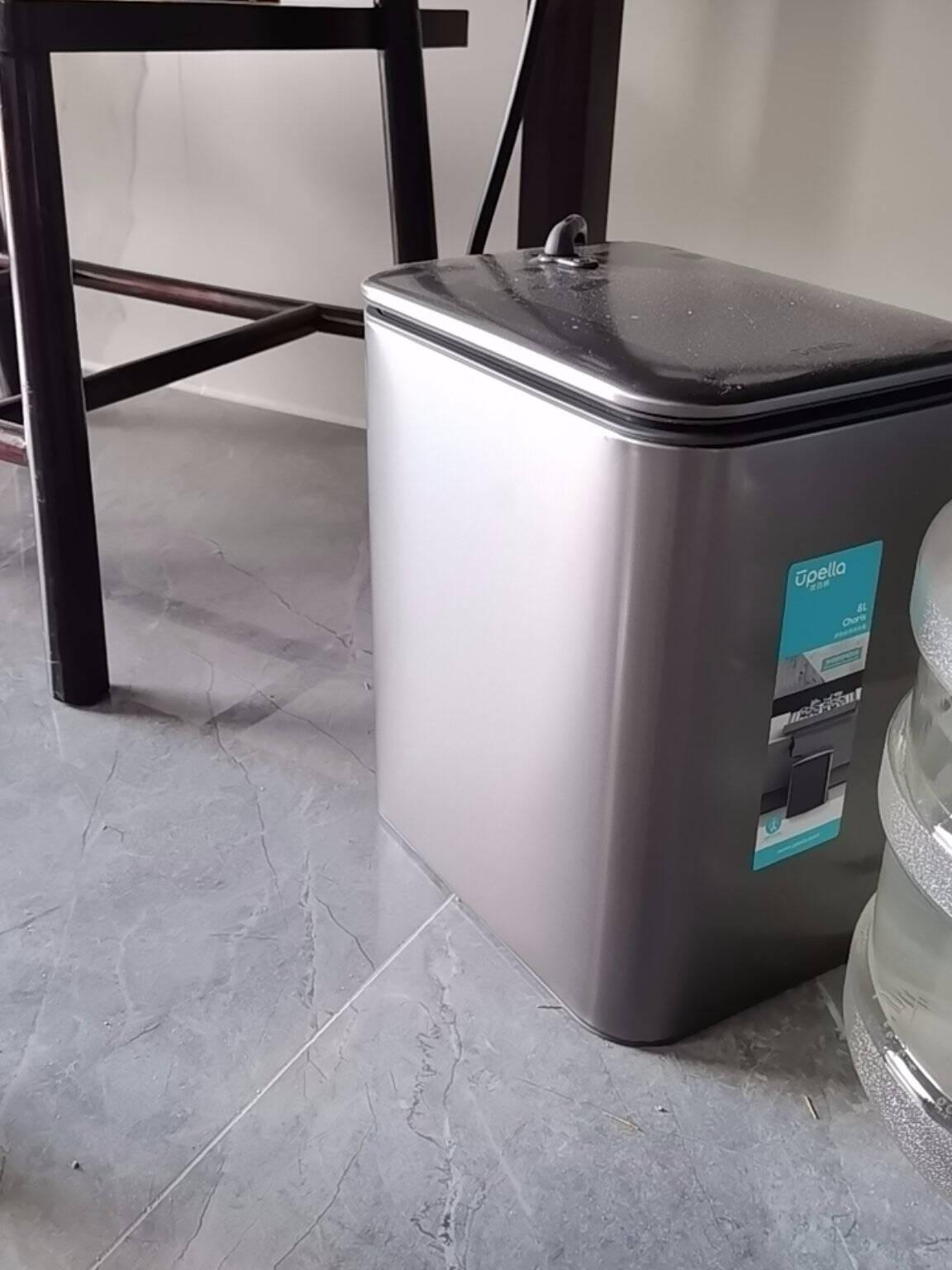 UPELLA优百纳家用不锈钢茶渣桶茶水桶茶叶垃圾桶带茶盘茶具配件带滤网排水管茶怡系列8L山脉灰