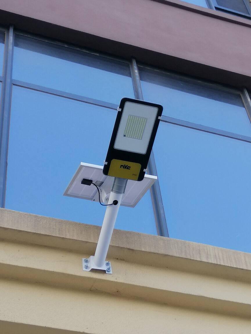雷士照明(NVC)太阳能灯光控新农村路灯户外灯道路照明灯led投光灯球场光感围墙庭院灯180W+遥控+光控感应