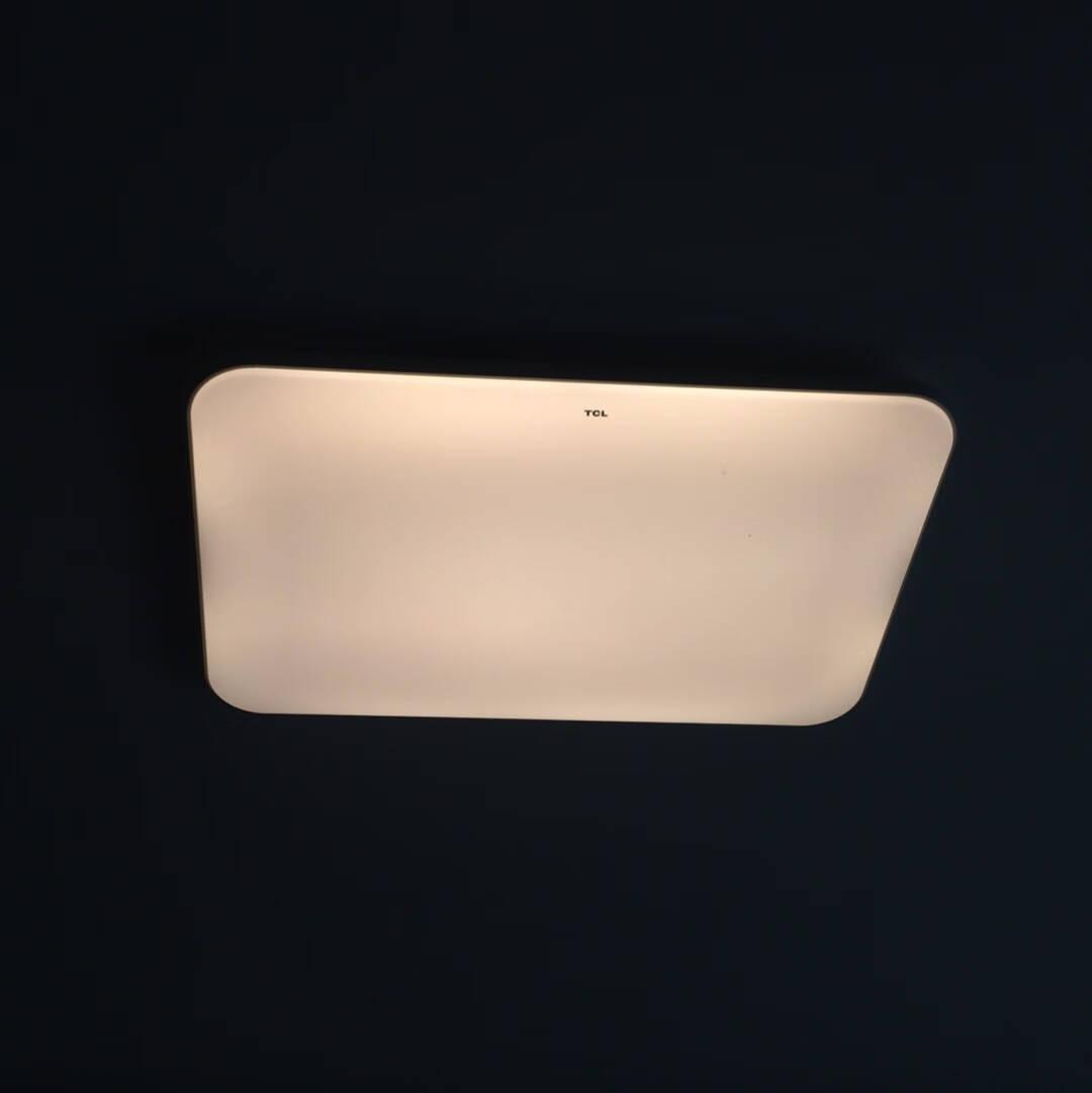 TCL照明led卧室中式吸顶灯客厅灯现代简约灯饰灯具套餐长方形北欧灯具餐厅灯冰玉108瓦遥控无极90*60适用25-35平