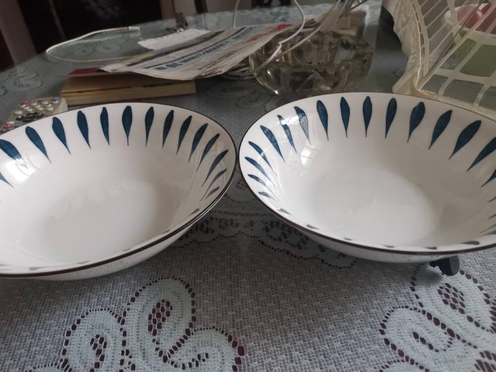 尚行知是釉下彩碗碟套装家用陶瓷乔迁碗筷餐具中式创意碗盘子组合兰芷【4.5英寸碗4个】流星雨