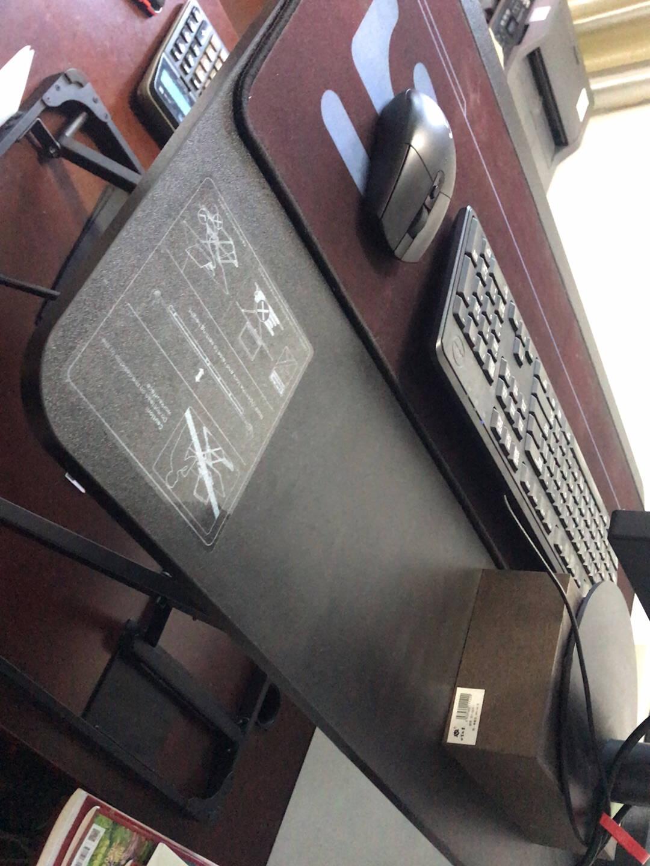 Brateck北弧站立办公升降台电脑桌站立式电脑升降支架显示器笔记本支架工作台式书桌办公桌子TS2黑色