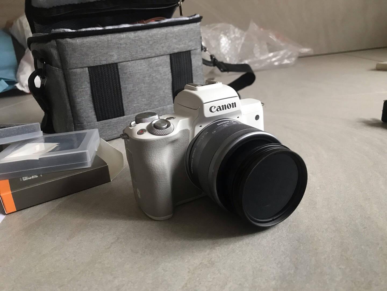 佳能m50二代微单相机2代数码相机自拍美颜微单套机白色Vlogm50二代黑色15-45套机官方标配【不含内存卡/相机包/大礼包等】