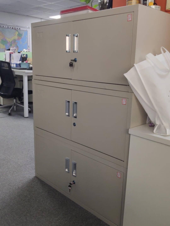 钱柜对开门矮柜钢制文件柜铁皮柜储物柜财务办公柜资料柜档案柜分双节单节柜子带锁常规板材
