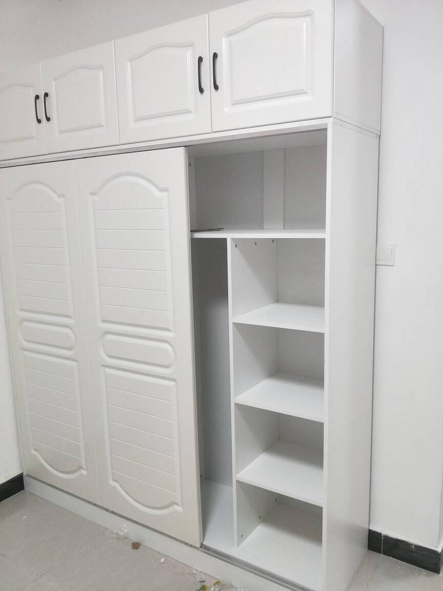 苏弘衣柜推拉门实木质卧室储物收纳简易移门衣橱大衣柜子0.8米主柜两门(颜色备注)
