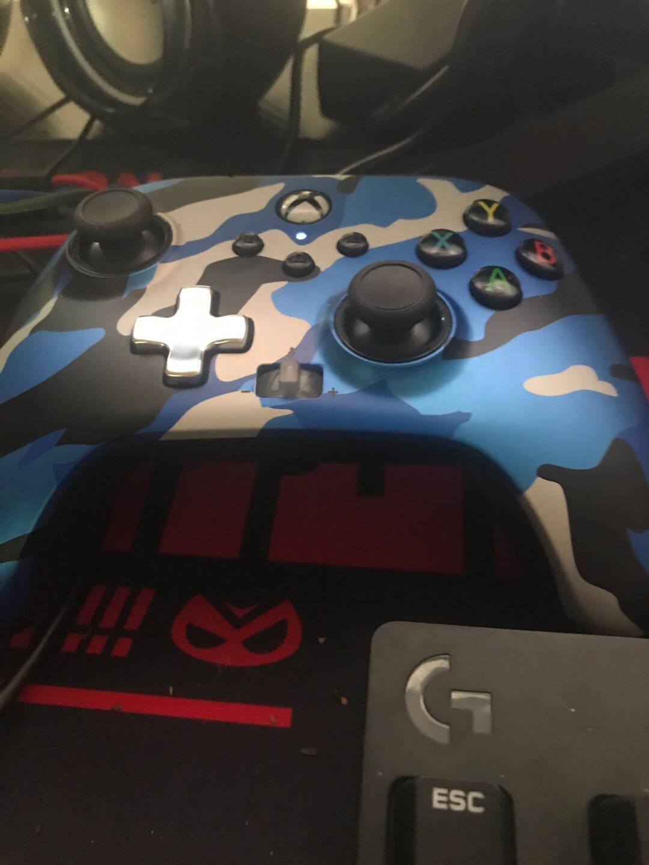 PowerAXbox正版授权XboxOne•XboxSeriesX S带背键有线手柄-迷彩蓝款