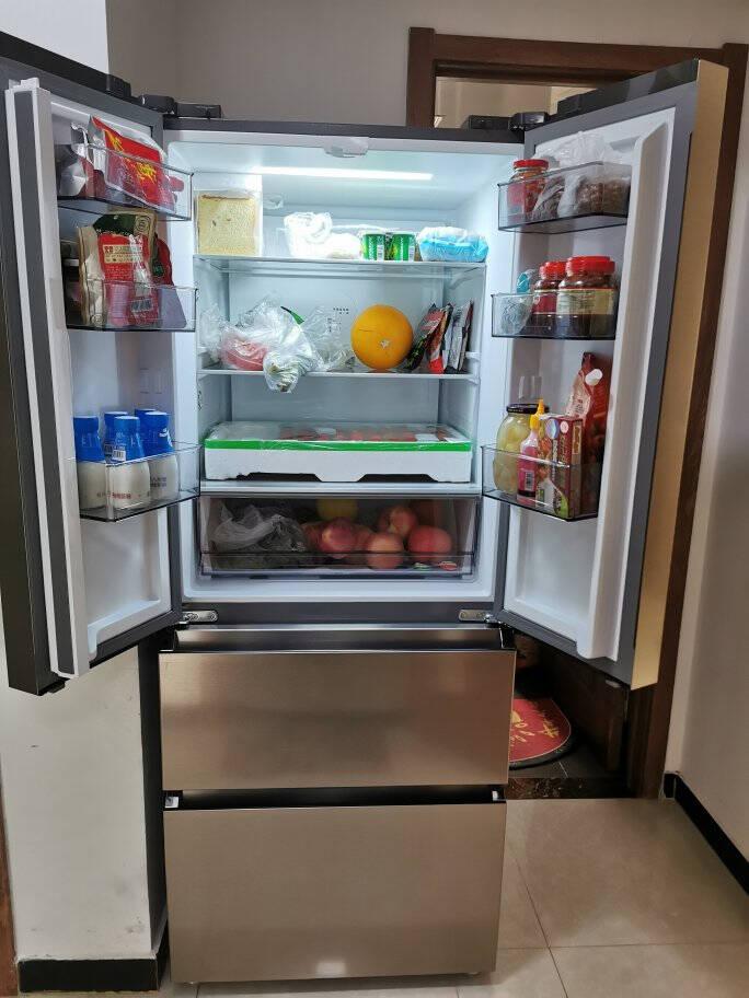 美的(Midea)401升法式多门双开门家用电冰箱变频一级能效独立变温空间风冷无霜节能低噪BCD-401WFPZM(E)