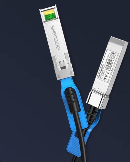 胜为(shengwei)高速电缆SFP+DAC堆叠线直连万兆10G高速线缆光模块兼容华为思科中兴海康交换机1米XDAC0101