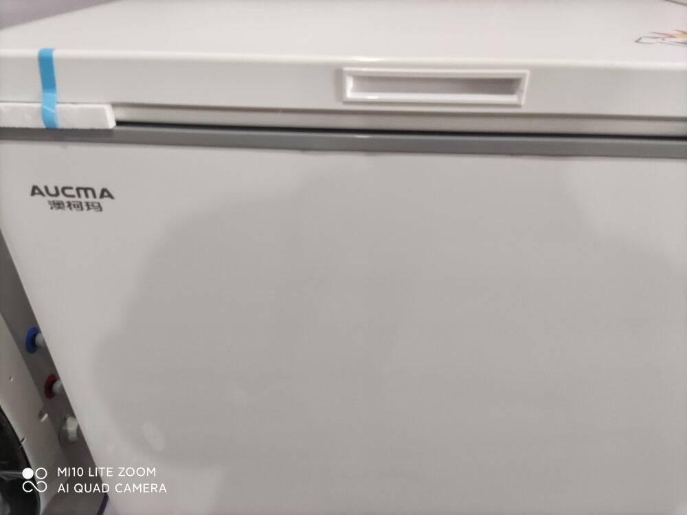 澳柯玛(AUCMA)家用商用冷柜冷藏冷冻转换节能顶开冷柜金色外观彩晶面板白色合金内胆BC/BD-205FG