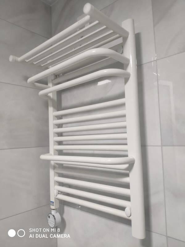 卡迪欧电热毛巾架碳纤维发热卫生间置物架浴室烘干架智能电加热毛巾浴巾烘干架201C740*500mmAPP温控左