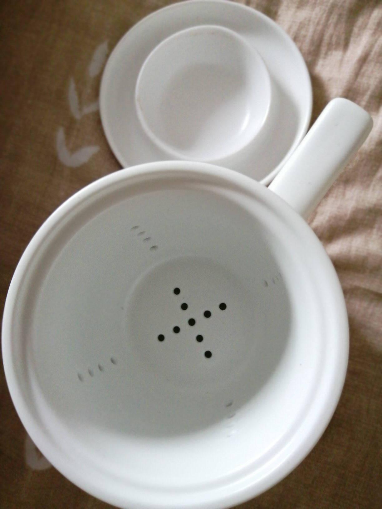 束氏茶水分离杯陶瓷杯带盖泡茶杯过滤水杯茶具办公室功夫茶杯子手绘兰花