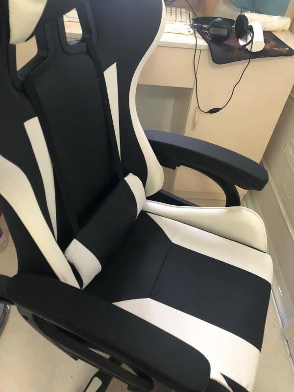 电竞椅电脑椅游戏椅人体工学椅子办公老板椅网吧网咖家用靠背椅学生经济宿舍可躺转标配款【黑白】钢制脚【承重220斤】
