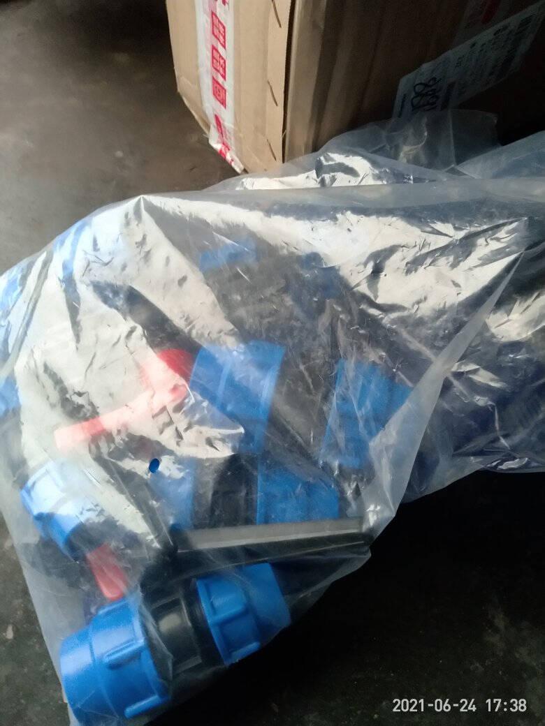 pe管接头配件4分6分水管接头快速接头塑料管活接头快接直接黑pe管普通25mm蓝帽直接(6分)