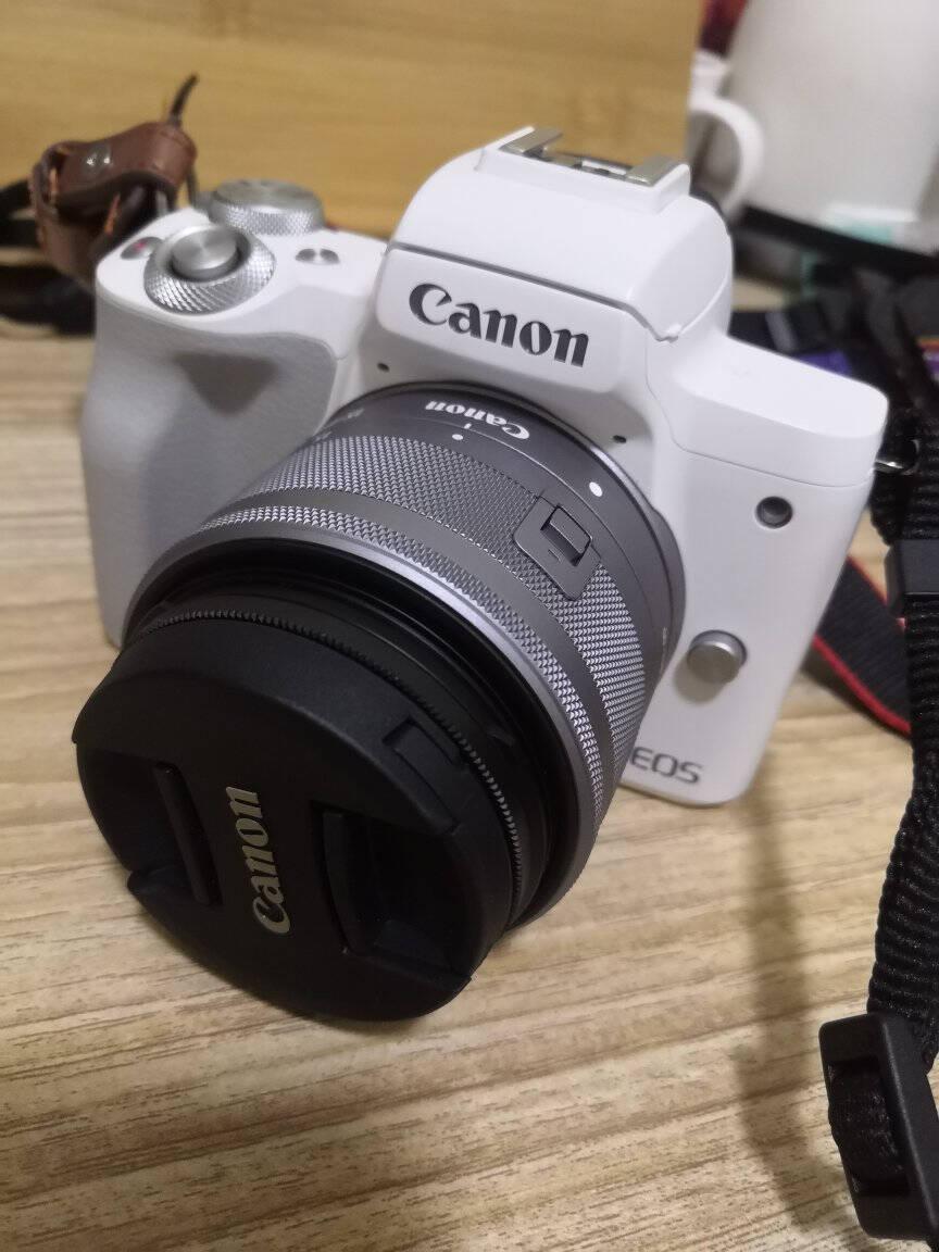 佳能m50二代微单相机2代数码相机自拍美颜微单套机白色Vlogm50二代黑色15-45套机套餐一【入门配置再送599元大礼包】