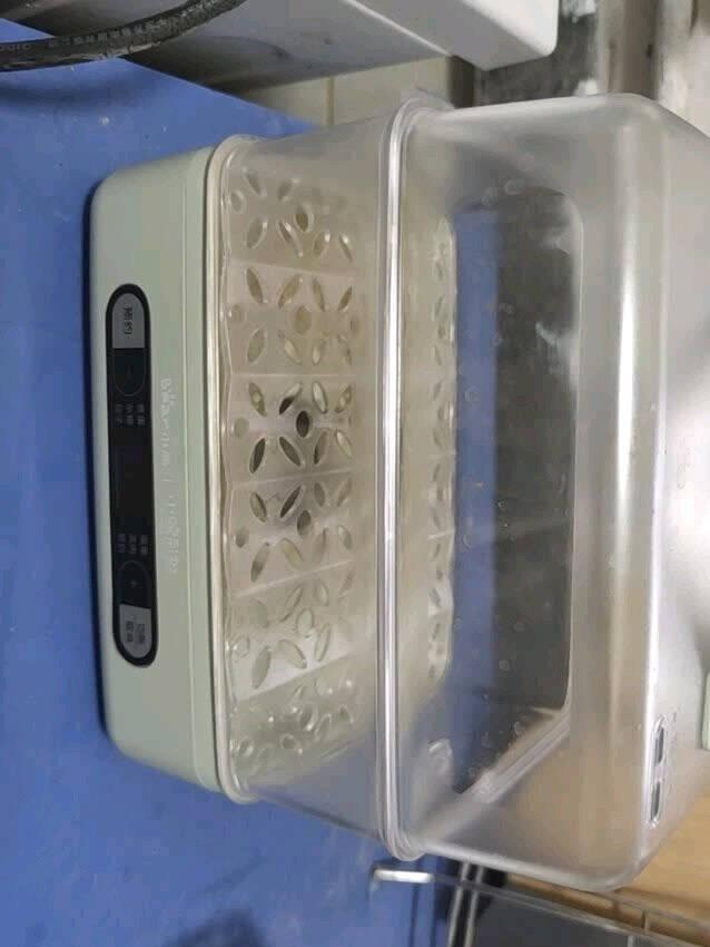 小熊(Bear)小鸡彩虹联名款煮蛋器微电脑预约定时单双层蒸架电蒸锅自动断电多样菜单ZDQ-B06H2