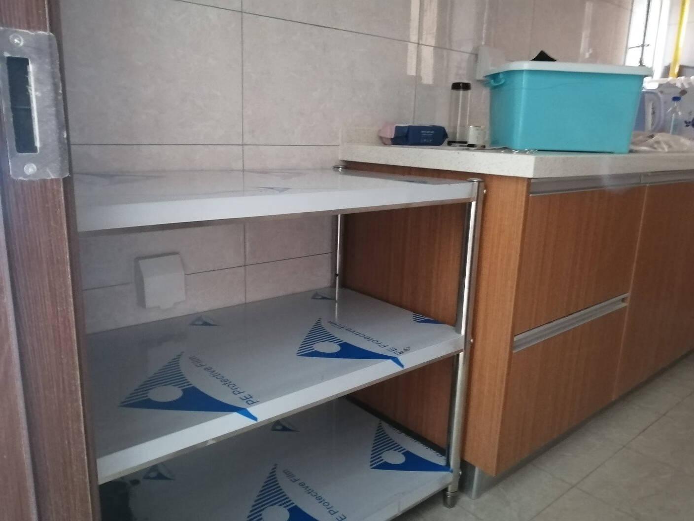 厨房客厅卧室全屋整体橱柜实木不锈钢大理石成品简约欧式现代风格台面地柜厨柜预售定制款三层长150cm*50cm*80cm可调节面板实