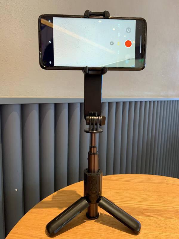 RTAKO手机稳定器自拍杆手持防抖三脚支架单轴云台多功能运动户外拍摄直播抖音Vlog视频摄影神器【迷你云台】新AR传感电动轴-智能防抖