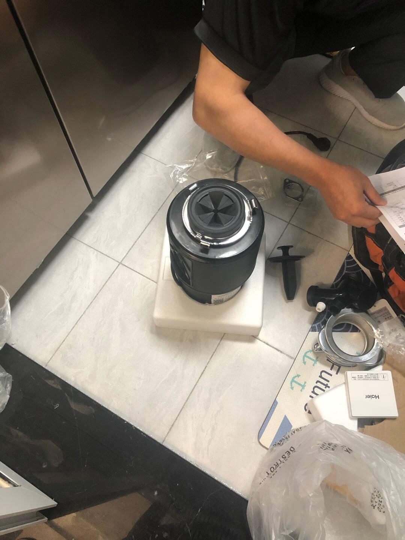 海尔(Haier)厨房垃圾处理器家用大功率隔音降噪全自动厨余食物粉碎机无线开关顶配款LD-750顶配款LD750-E1