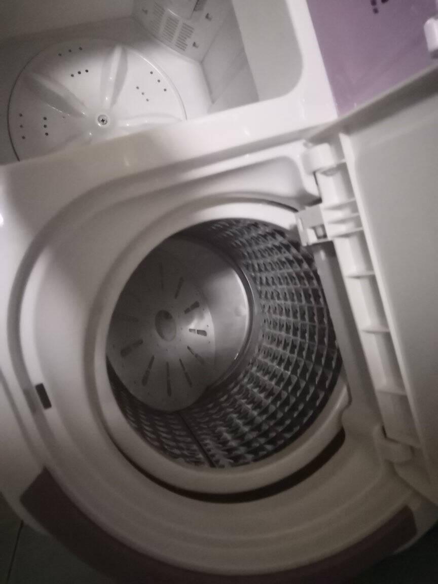 小鸭3.5公斤半自动迷你洗衣机婴儿童不锈钢双缸脱水臭氧款XPB35-1606S