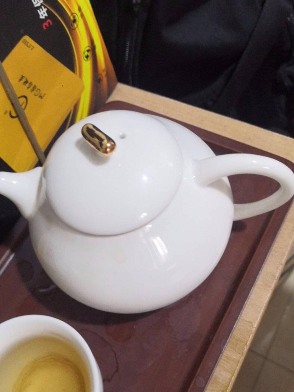 束氏羊脂玉整套茶具一壶四杯带茶盘茶杯陶瓷功夫茶具套装开门红白瓷礼盒套装一壶四杯小套组
