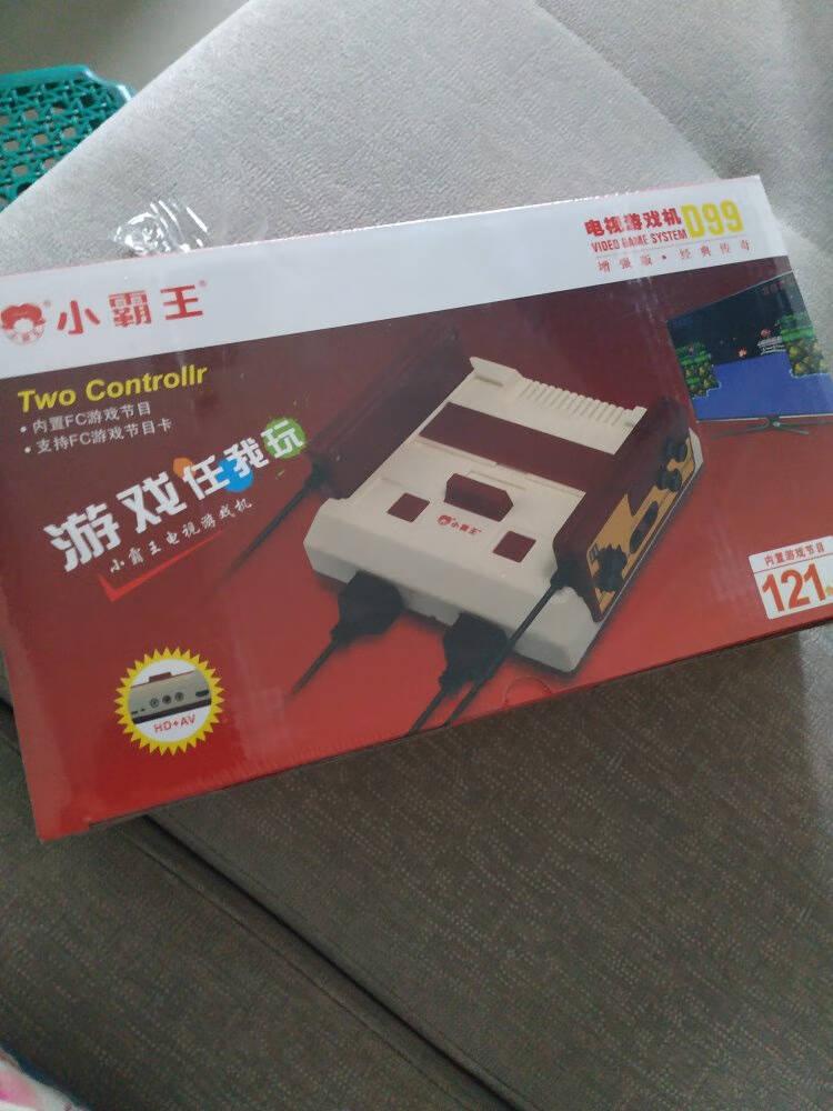 小霸王D99游戏机4K高清红白机老式fc插卡游戏机D99D99增强版(有线双手柄+500合一测试卡)