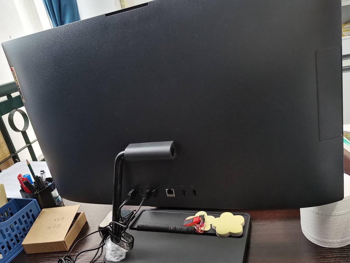 联想(Lenovo)AIO520微边框一体台式机电脑23.8英寸(R53500U8G256GSSD720P摄像头)白