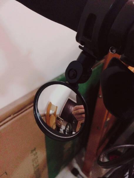 ROGTYO自行车后视镜电动电瓶车大视野凸面倒车反光镜骑行通用后视镜圆镜大号【8cm镜面】一只