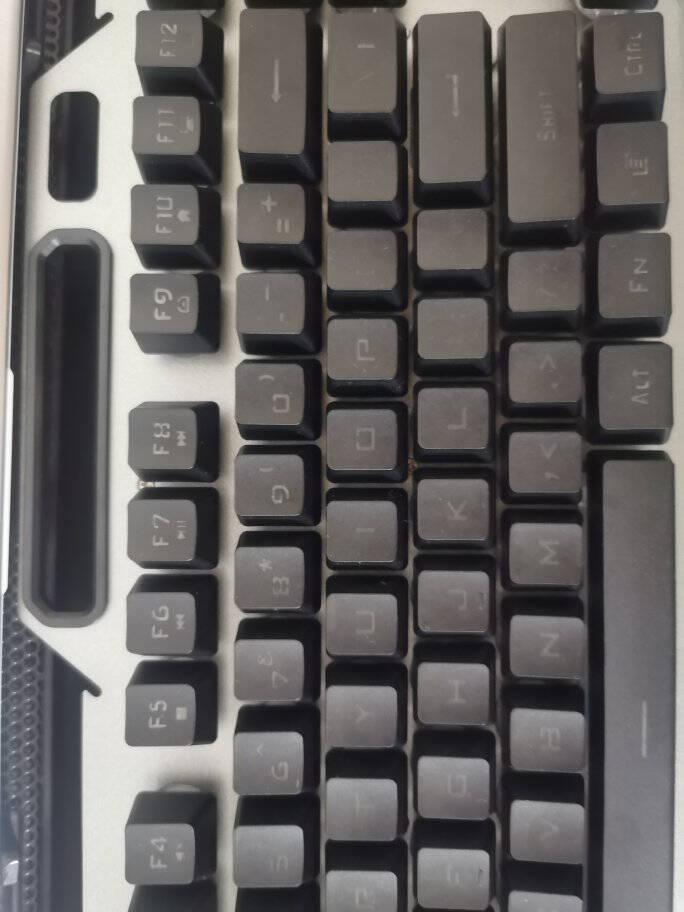 狼蛛(AULA)真机械手感键盘鼠标套装游戏电竞有线背光吃鸡笔记本台式电脑外设办公键鼠三件套金属灰【冰蓝光】单键盘