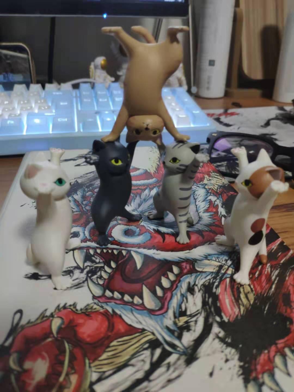 【官方Qualia】妖娆猫咪笔架可爱举笔猫办公室桌面手办摆件儿童生日礼物盲盒万物皆可举五只猫【第一弹】