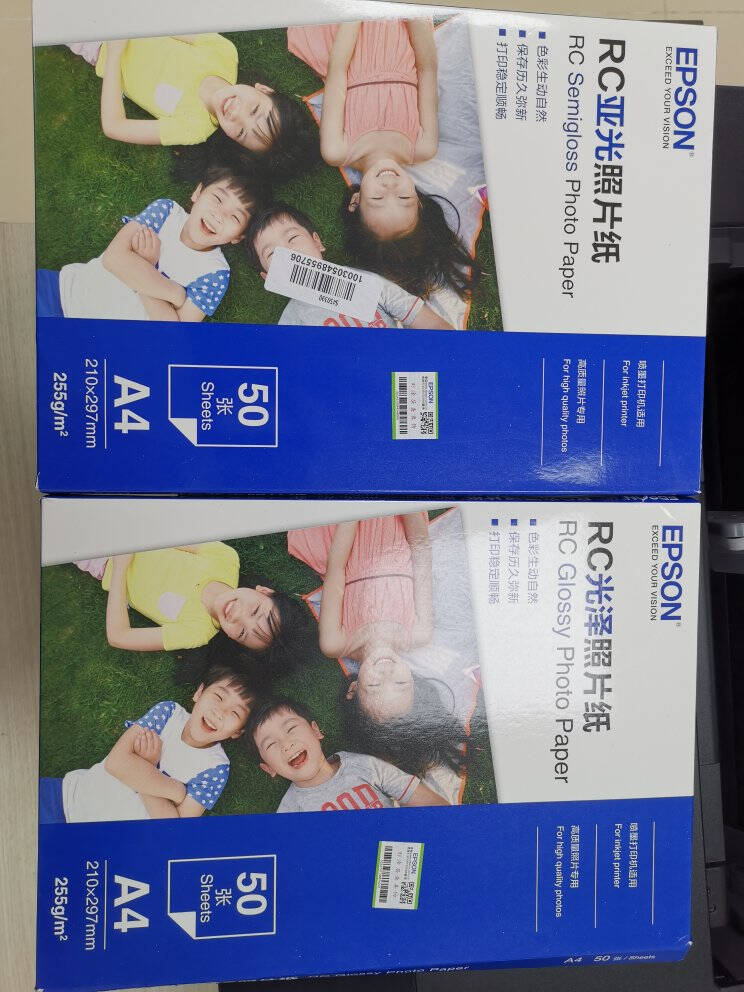 爱普生(EPSON)原装相纸RC光泽打印机A4照片纸证件照/生活照/照片墙6寸相纸S450389【6寸100张】【亚光255g】