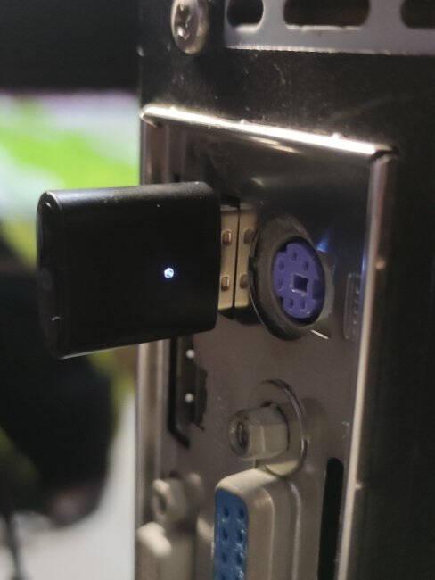 绿联USB蓝牙适配器5.0发射器蓝牙音频接收器PC台式机笔记本电脑接手机无线蓝牙耳机音响鼠标键盘80889