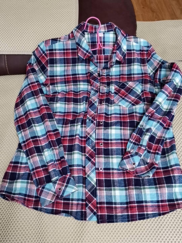柏莉鸟春季新品女士纯棉格子长袖衬衫时尚休闲全棉法兰绒磨毛格子衬衣女BL880938