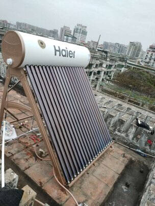 海尔(Haier)太阳能热水器家用光电两用一级能效节能自动上水水箱防冻水位水温双显示电辅助加热L6标准版130升-18支管(3-4人适用)