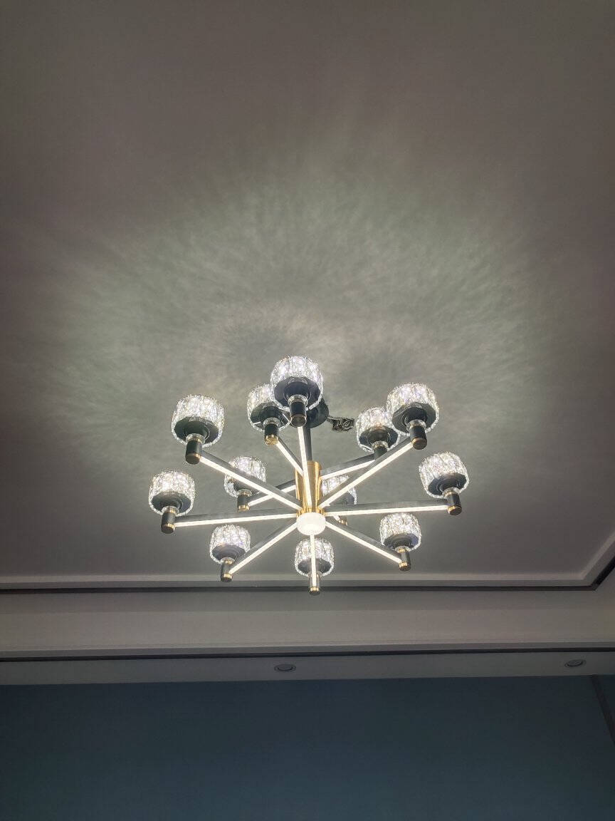 珺蒂客厅吊灯北欧后现代简约全屋灯具套餐轻奢大气餐厅家用卧室灯臂发光2021新款网红灯饰灯臂发光6头-三色调光