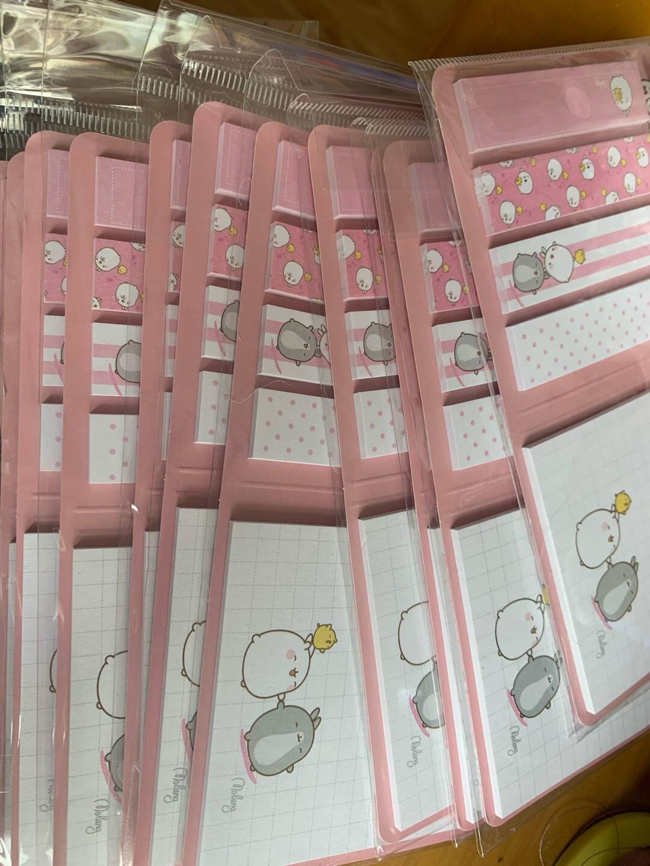 爱好(AIHAO)荧光透明小便签贴纸彩色便利贴指示标签分类贴日韩文具6675666943随机2本