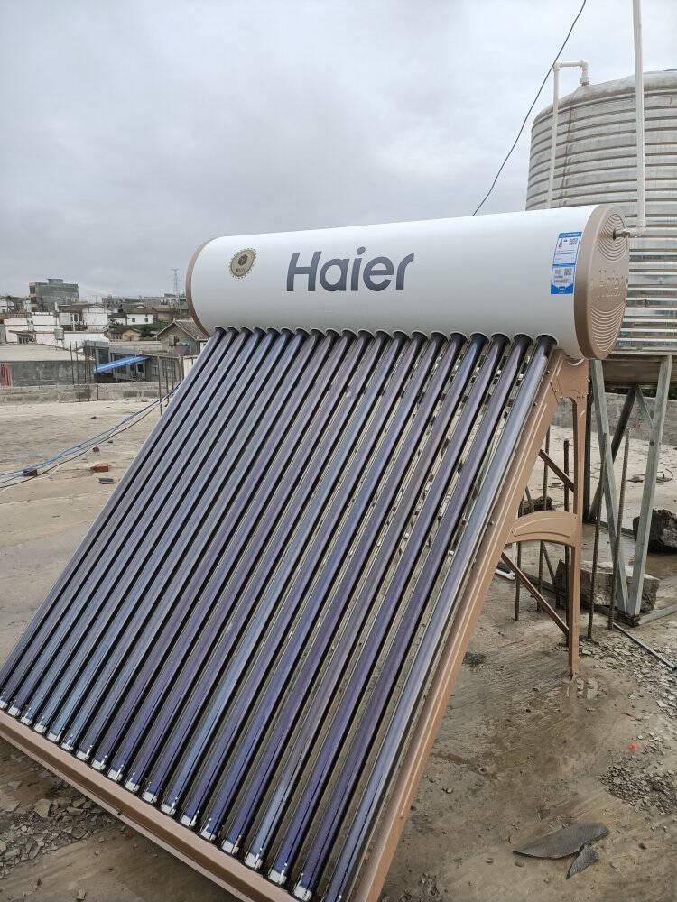 海尔(Haier)太阳能热水器家用全自动上水光电两用带电辅加热WIFI智能控制器一级能效Ι6旗舰款18管-140升(3-5人用)