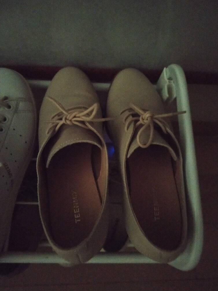 Teenmix/天美意2020春商场同款英伦风木纹方跟系带牛皮革女休闲皮鞋CL223AM0米白色37