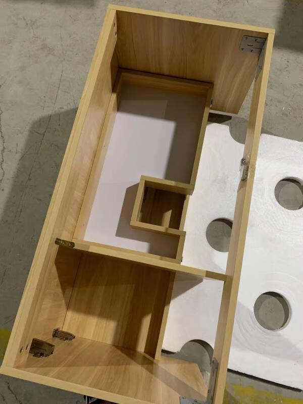 旺杰岩板一体浴室柜组合现代轻奢简约卫生间洗漱台洗手洗脸盆实木定制70CM-岩板陶瓷台下盆-智能镜子