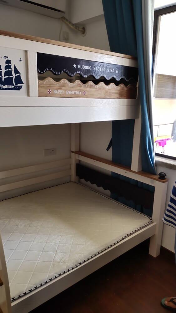 乐国上下床双层床成年全实木两层子母床多功能上下铺组合床儿童高低床直梯款【上90下120】+床垫*2+包安装其他更多组合形式