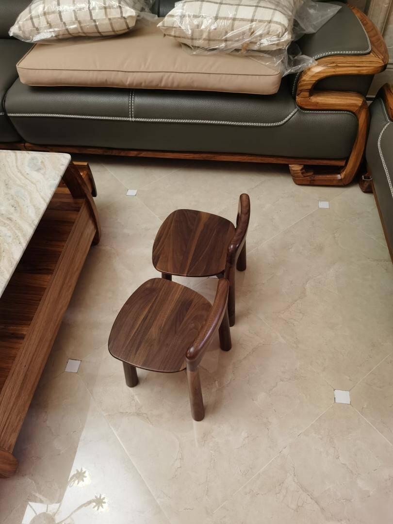忆榞实木小板凳黑胡桃木小凳子家用成人换鞋凳方凳脚蹬矮凳脚踏黑胡桃木1把25*26*38CM