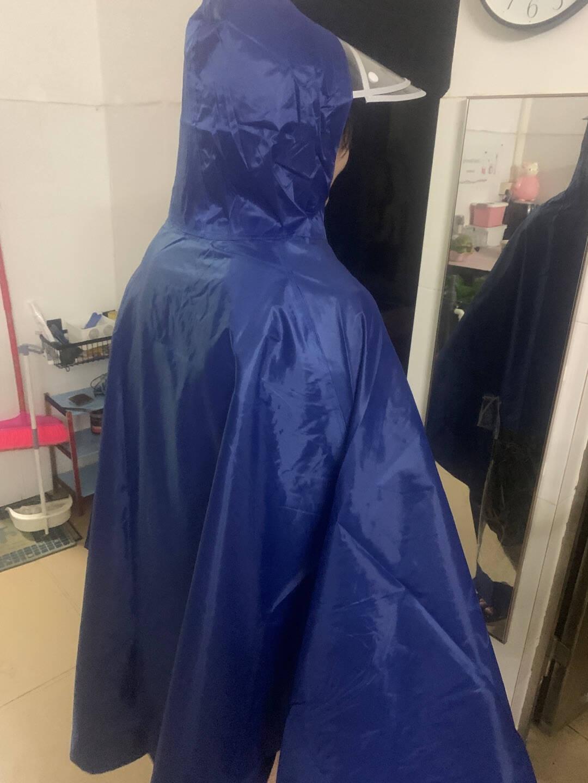 雨衣电动车雨衣双帽檐自行车雨衣摩托车雨披电动车单人男女款加大加厚电瓶车长款全身单人款蓝色6XL