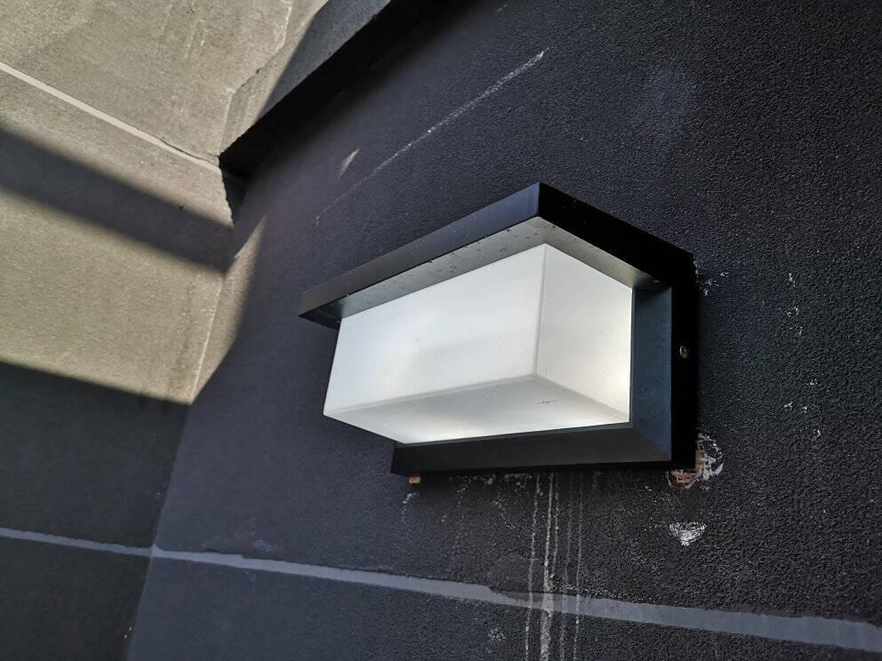 户外壁灯防水阳台led室外灯楼梯过道创意庭院大门口亮外墙壁灯601砂黑-18W暖光(白光备注)