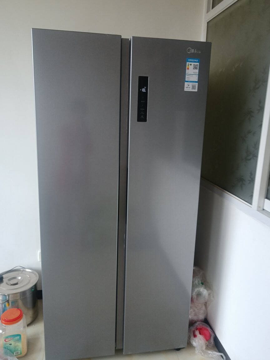 美的(Midea)470升对开电冰箱双开门智能家电一级能效双变频风冷无霜节能省电BCD-470WKPZM(E)
