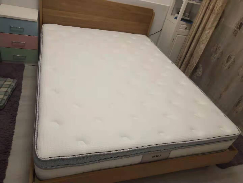 联邦床实木床中式白橡木单双人床现代简约双人原木1.5米双人床1.8米主卧大婚床FAS级北美进口白橡木观澜床1.8*2米