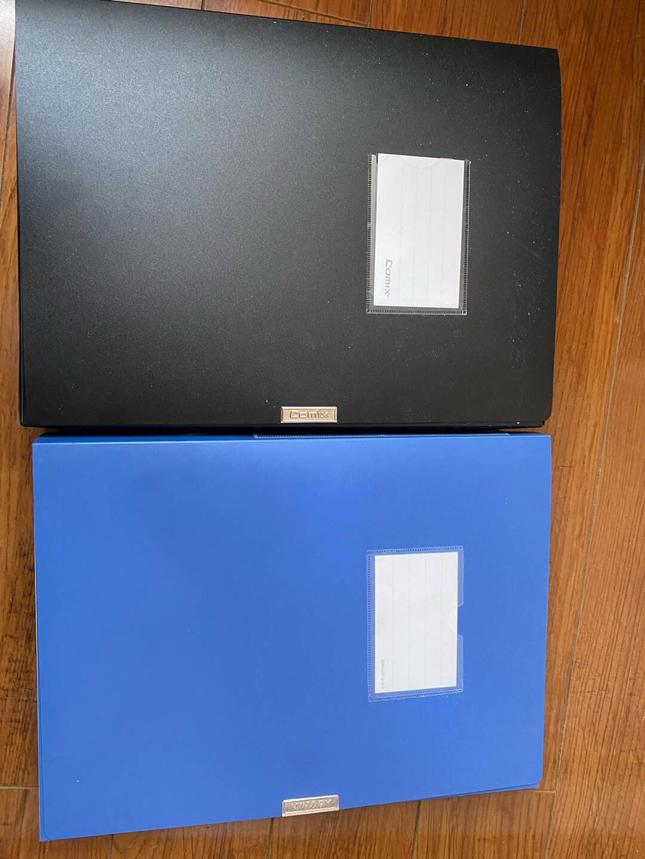 齐心(Comix)10个装75mm牢固耐用粘扣档案盒/A4文件盒/资料盒EA1003-10蓝色