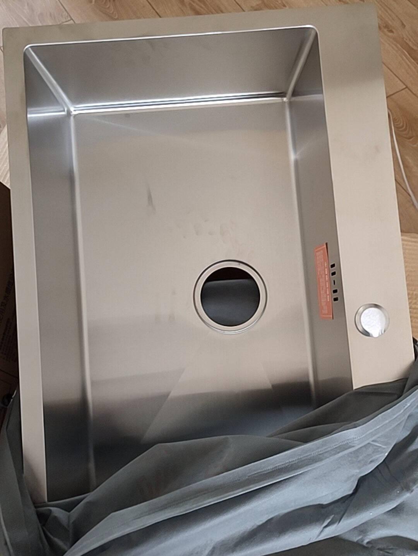 卡贝(cobbe)水槽单槽洗菜盆304不锈钢手工加厚洗菜池厨房洗碗池抽拉龙头68*46手工单槽+可抽拉龙头(店长强烈推荐)